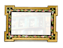 "Antique Crystal Mirror "" Floral Delight """