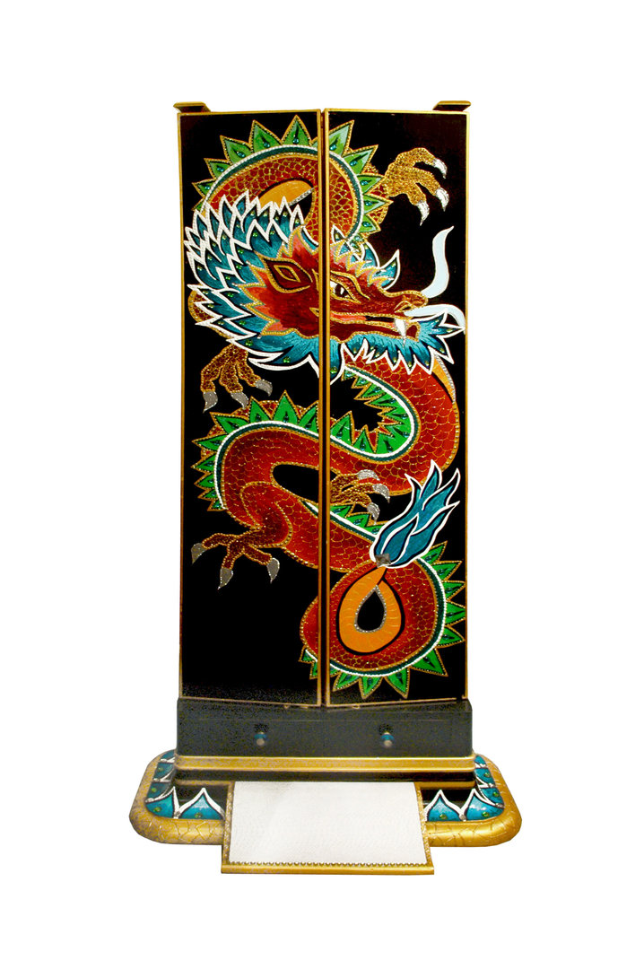 "Antiker Standspiegel ""Lucky Dragon"""